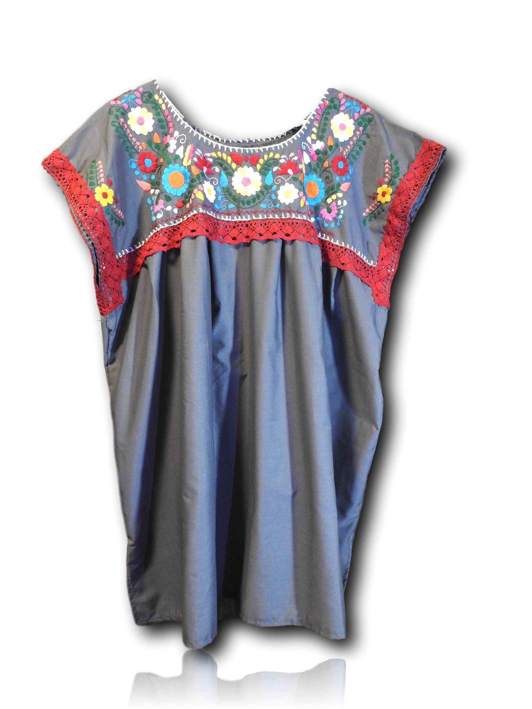 0602a5e6fce Plus size mexican embroidered blouse. gallery photo ...