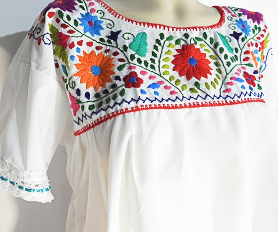 Plus size mexican peasant blouse
