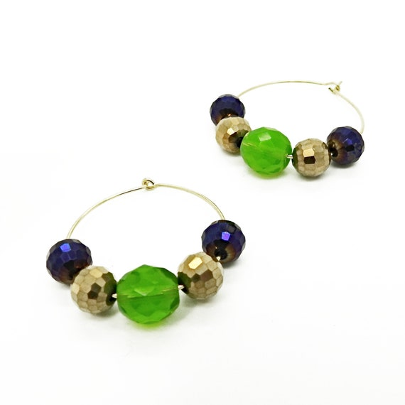 Handmade hoops with beads
