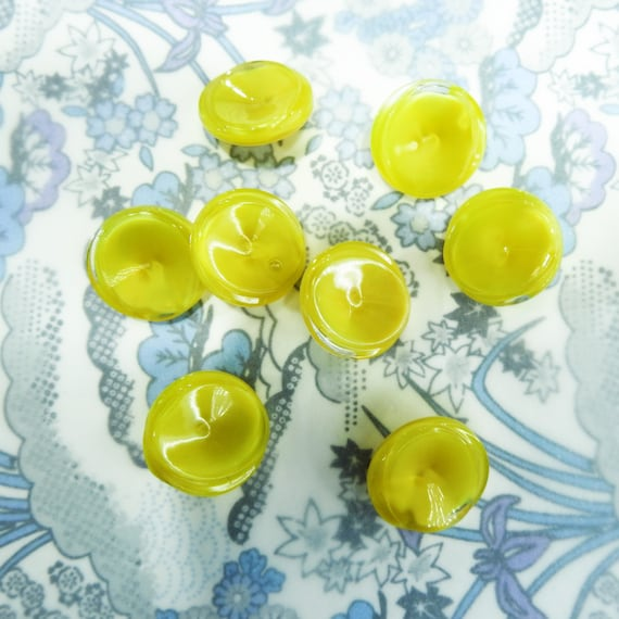 Vintage yellow buttons for coats