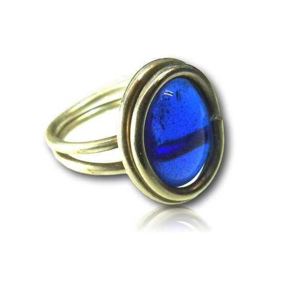 Royal blue ring for women