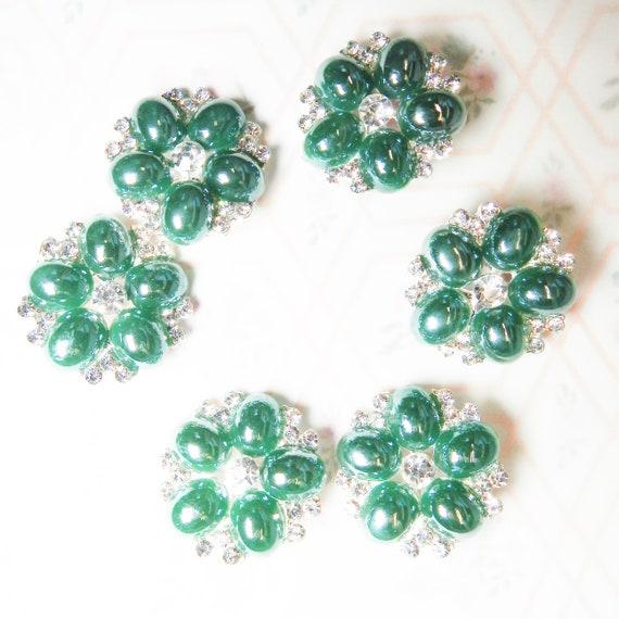 Dark green buttons