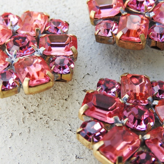Pink glass buttons