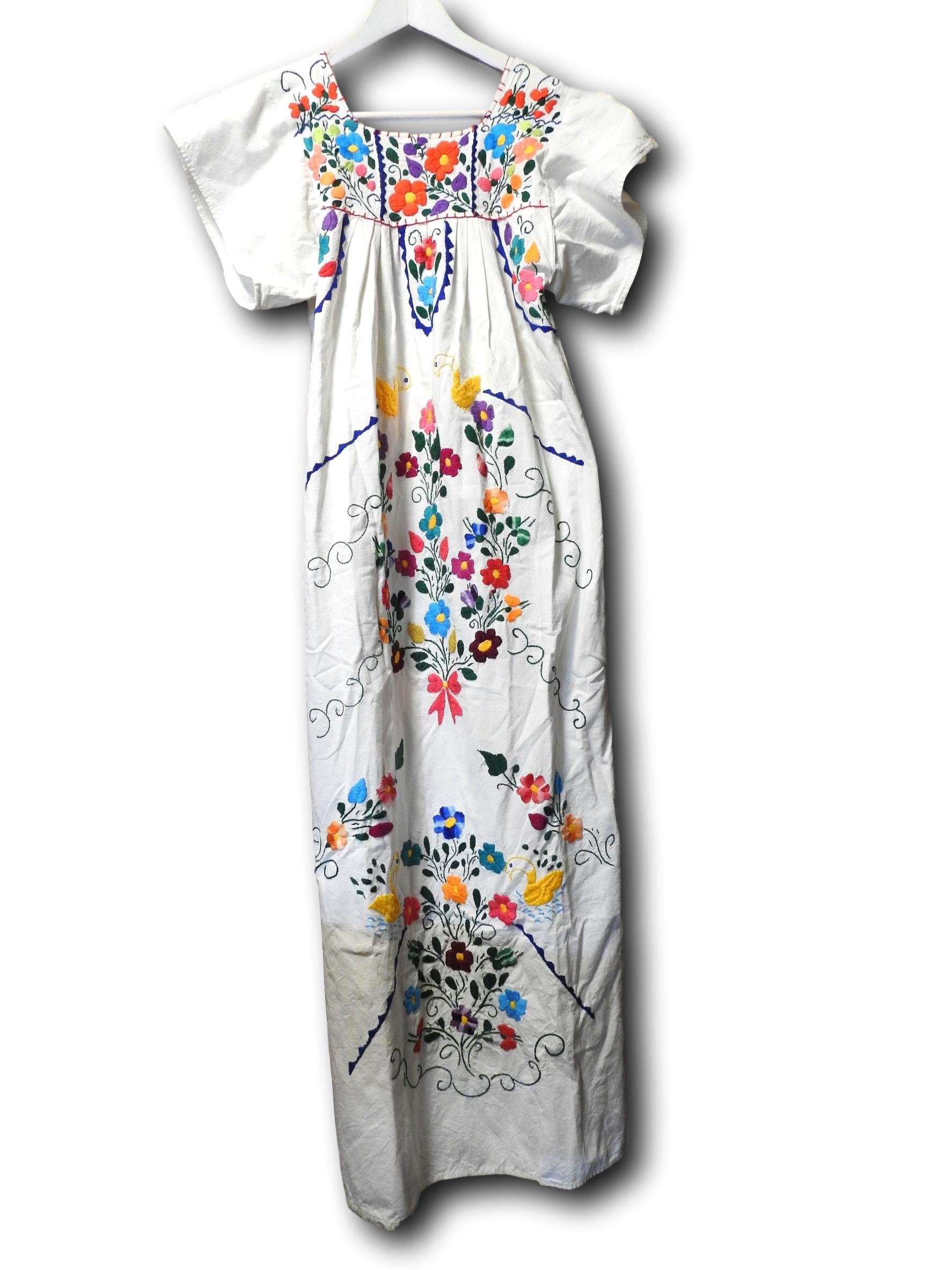 befea84c21573 Authentic Vintage Mexican embroidered dress. gallery photo ...