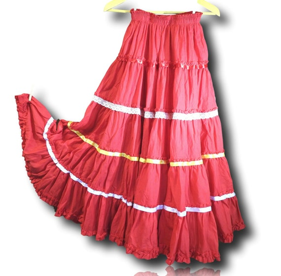 Long boho skirts for women