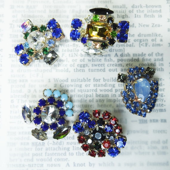 Bright fancy blue glass buttons