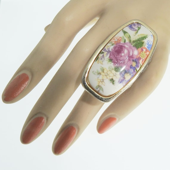 Floral rings jewelry
