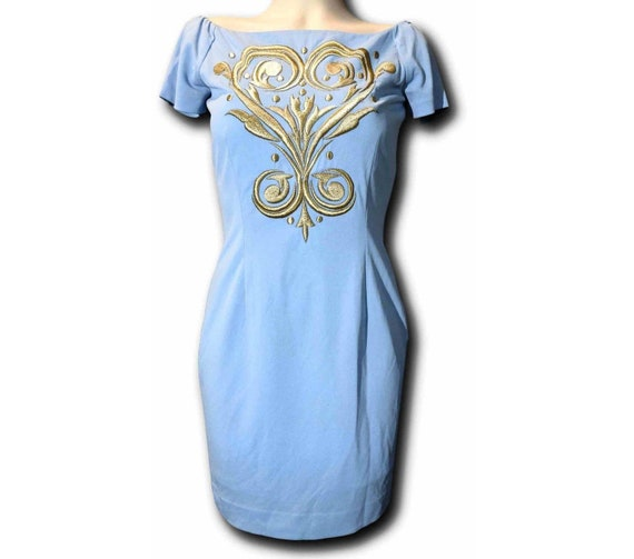 Sky blue short dress 60s vintage