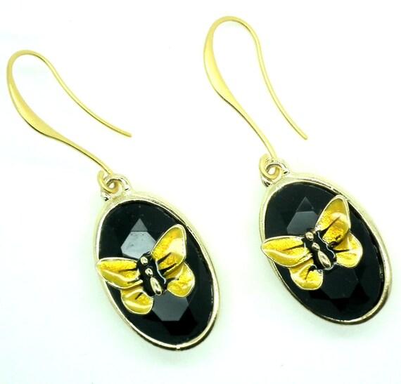 Insect earrings, Insect jewelry women, long earrings, nature earrings, Handmade jewelry, cute gift women, mom gift earrings