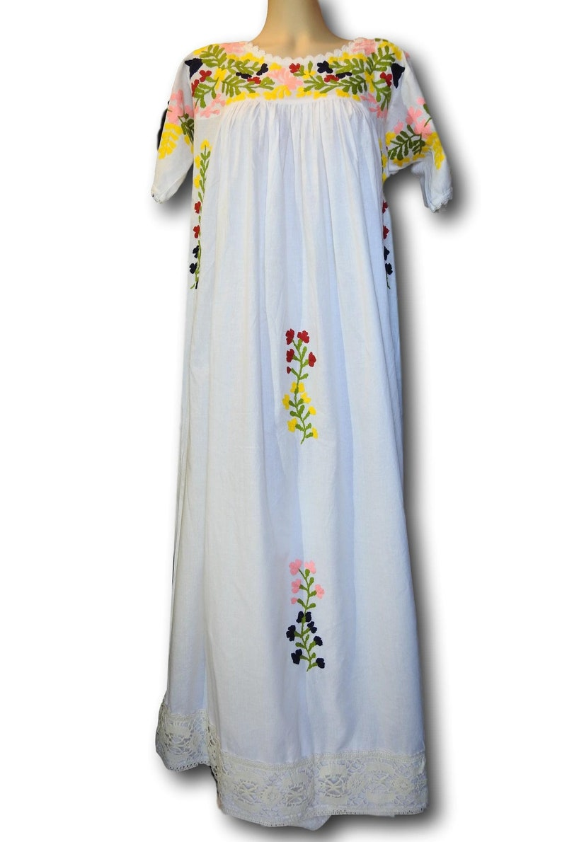 67692f468032d Long Mexico dress boheme clothing floor lenght hippie chic | Etsy