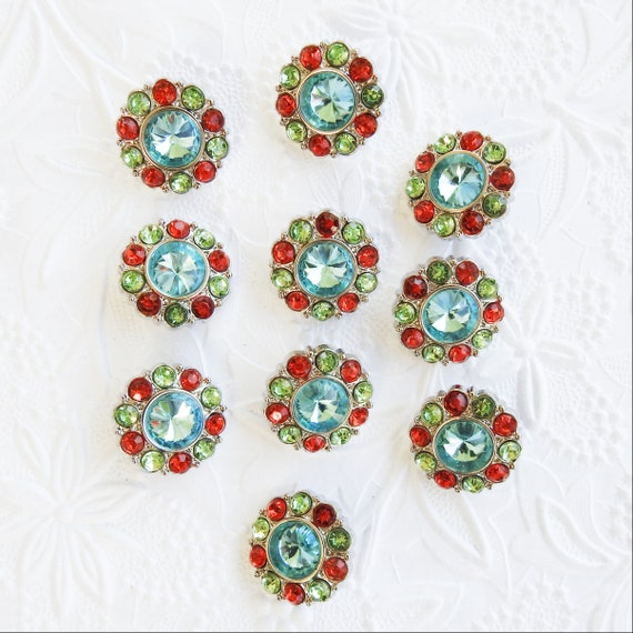Rhinestone buttons for crafts