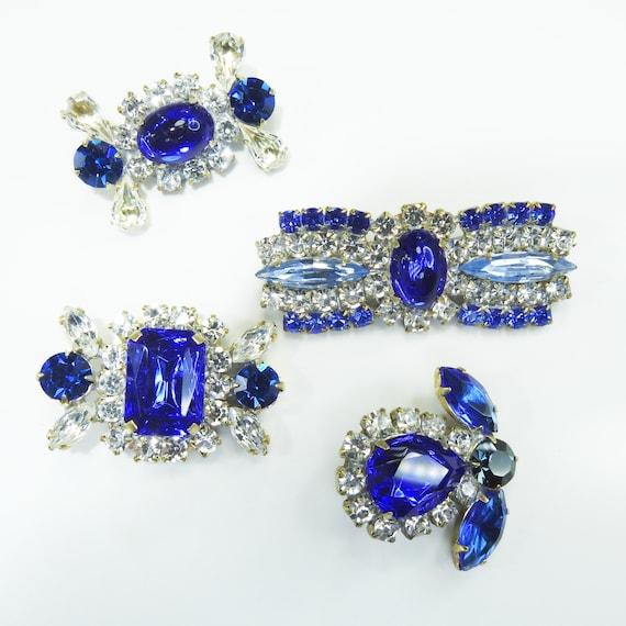 Blue glass fancy buttons