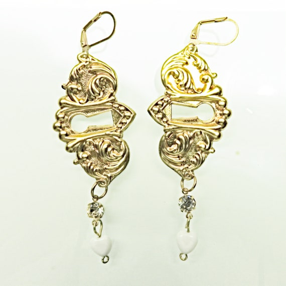 Vintage style long dangle earrings
