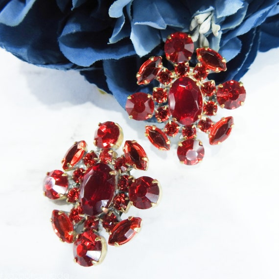 Large unique red jewel buttons