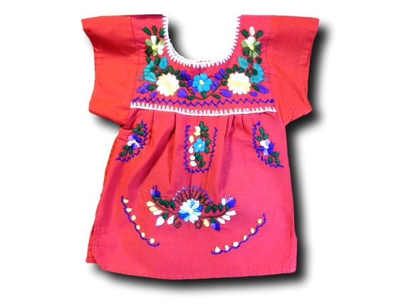 Red baby embroidered dress