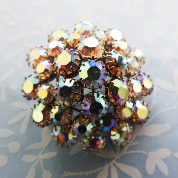 Vintage brooch jewelry Aurora borealis