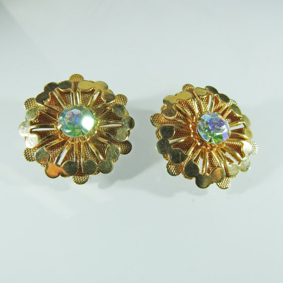 Vintage style Clip on earrings sparkly for non-pierced ears