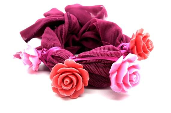 Pink purple bracelet