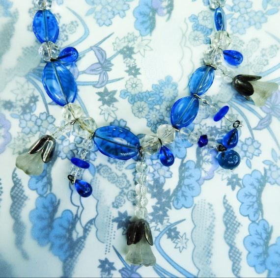 Czech glass necklace for women