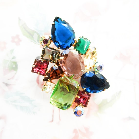 Juliana jewelry rhinestone brooch pin