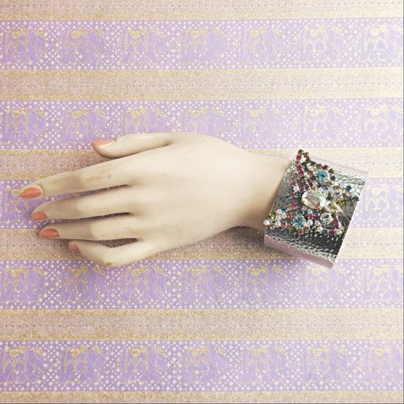 Wide butterfly bracelet
