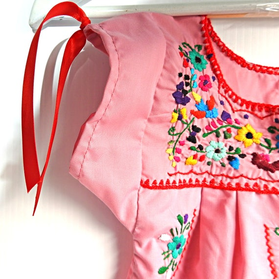 Dusty PINK baby Mexican dress
