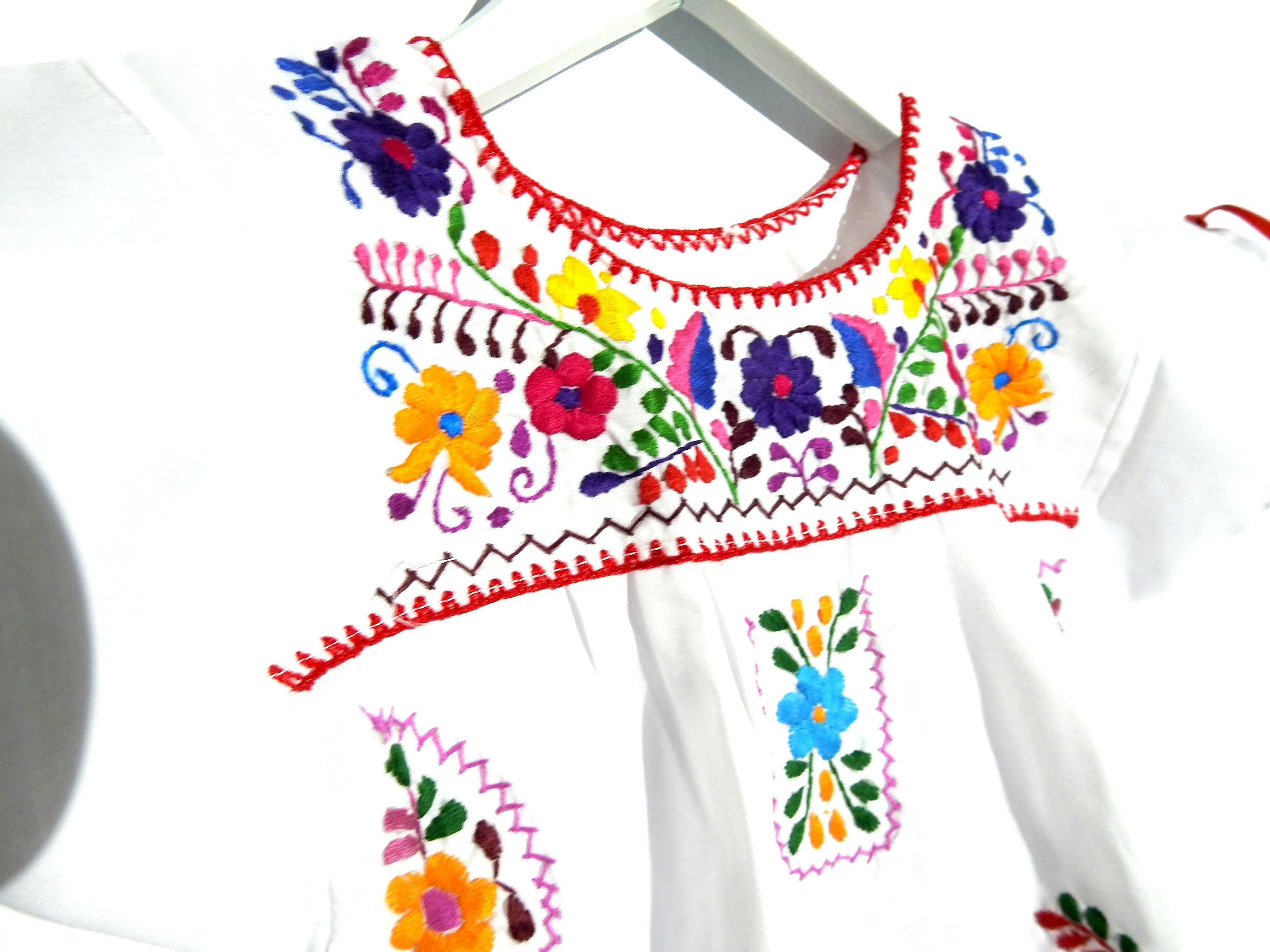 46f5ce2f2b1 Mexican pride baby dress clothes Mexican dress for baby girl floral  embroidery Mexican fiesta for toddlers dresses toddler child apparel 2