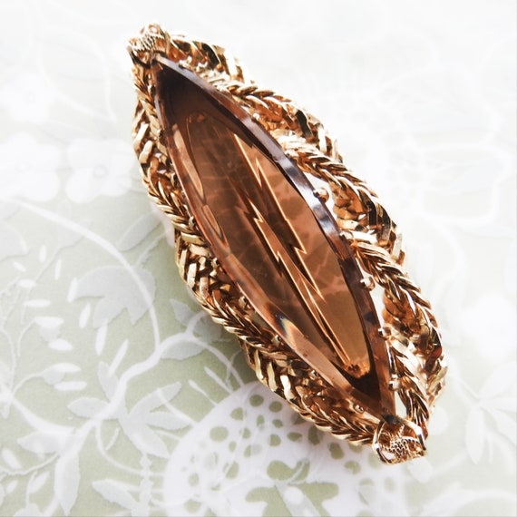 Vintage glass brooch for woman