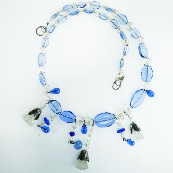 Czech glass necklace for women