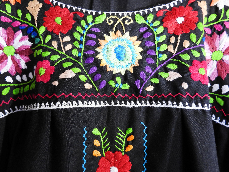 Plus size Mexican peasant dress