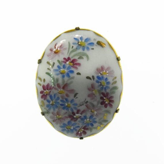 Ceramic brooch pin porcelain