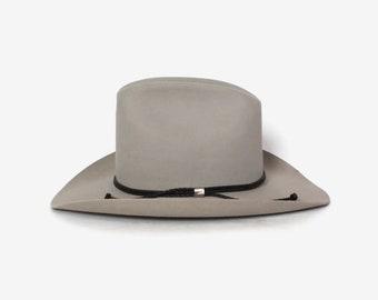 2b4c6e0dc3b Vintage Stetson 5X Cowboy HAT   Silvery Gray XXXXX Beaver Fur Felt Tall  Crown Western Hat