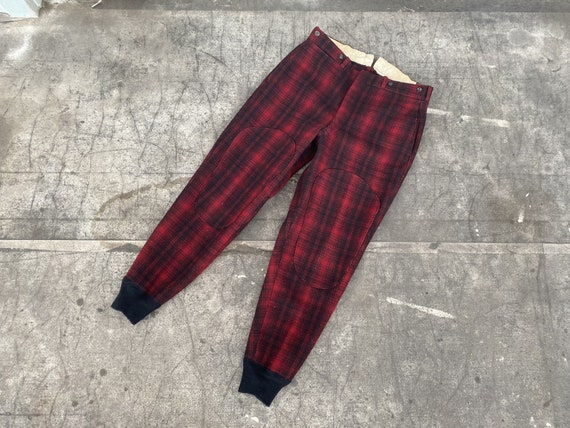 Vintage 50s Woolrich Hunting Pants / 1950s Buffalo