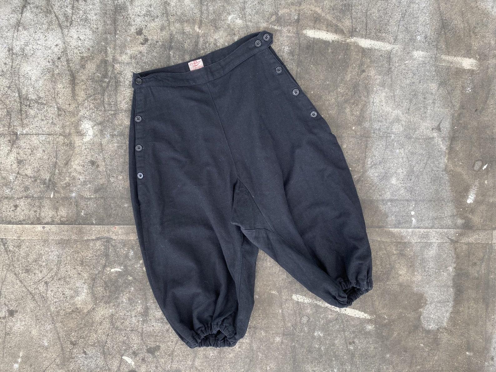 1920s Black Athletic Pants Bloomers