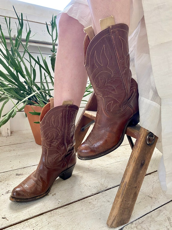 Vintage 50s Justin Western Boots / 1950s Women's B