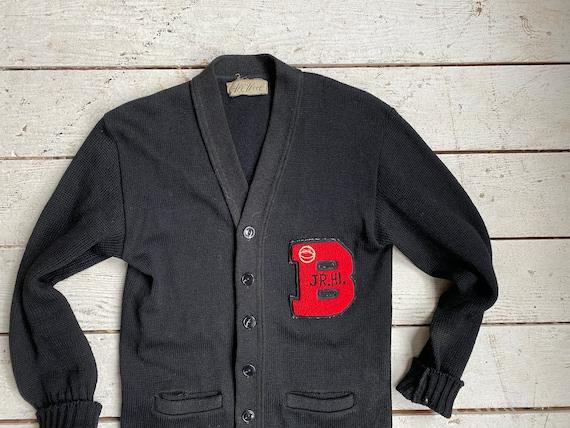 Vintage 50s Varsity Sweater / 1950s Jr Hi Wool Le… - image 4
