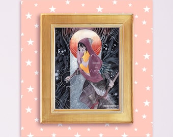 Morrigan Dragon Age Limited Edition 8x10 Foil Embellished Print