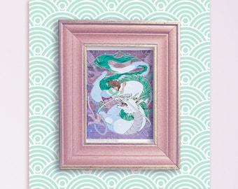 Spirited Away Chihiro and Haku 5x7 Print