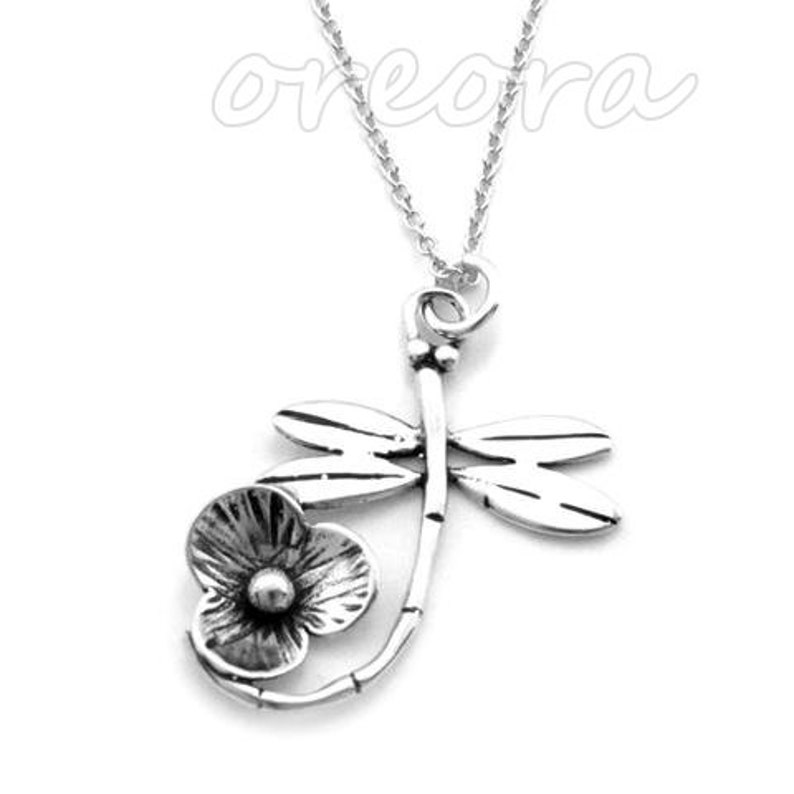 Costume Jewellery 925 STERLING SILVER PLATED ROSE FLOWER PENDANT NECKLACE 25MM