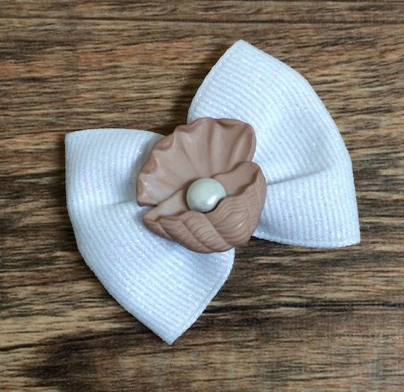 Huître et perle enfant ou chien Bow-huîtres et perle noeud-huître avec perle chien Bow-Summer Beach chien chien perle noeud noeud