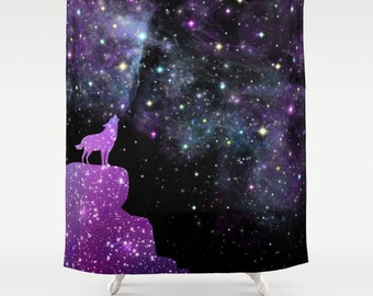 Outer Space  Stars Cosmic Nebula Galactic Custom Curtain Panel by Spoonflower Orion Nebula  by azizakadyri Purple Galaxy Curtain Panel