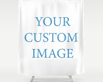 Custom Image Shower Curtain 66x72 Inch 71x74 60x72 Gift Idea Christmas