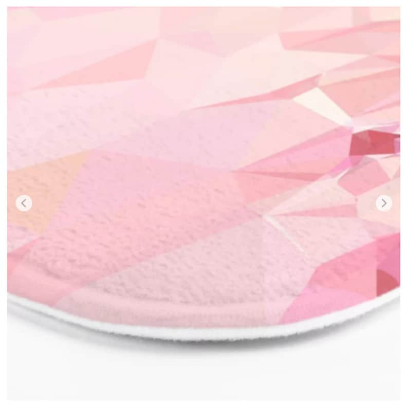 Bath Mat Flower Bath Mat Pink Bath Mat Geometric Pattern Bath Mat Non Slip Bath Mat Shower Decor Bathroom Rug Art Bath Mat Printed in USA