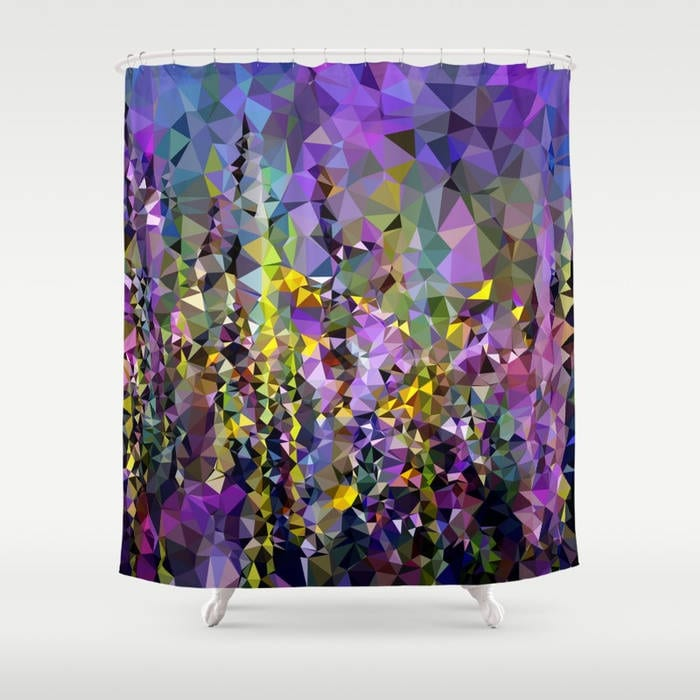 Purple Shower Curtain Art Lilac Abstract