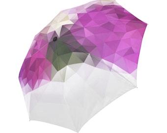 Magenta Umbrella Purple Umbrella Designed Umbrella Geometric Pattern Umbrella Rainbow Umbrella Photo Umbrella Automatic Abstract Umbrella