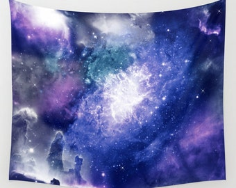 Violet Space Wall tapestries Galaxy wall tapestry art Nebula wall tapestry Lilac space tapestry Galaxy tapestry Space wall hanging