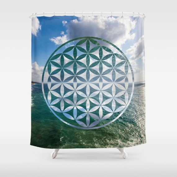 Flower Of Life Shower Curtain Sacred Geometry Photo