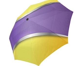 Yellow Umbrella Purple Umbrella Designed Umbrella Pattern Umbrella Art Umbrella Photo Umbrella Automatic Foldable Umbrella Abstract Umbrella