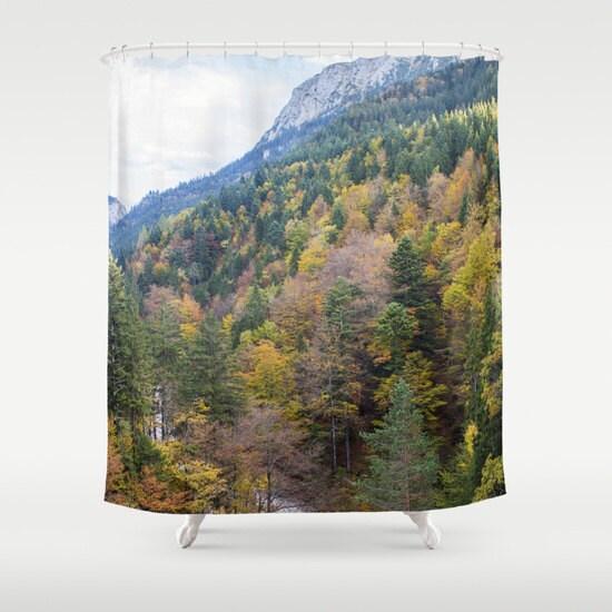 wald dusche vorhang b ume dusche vorhang foto vorhang natur. Black Bedroom Furniture Sets. Home Design Ideas