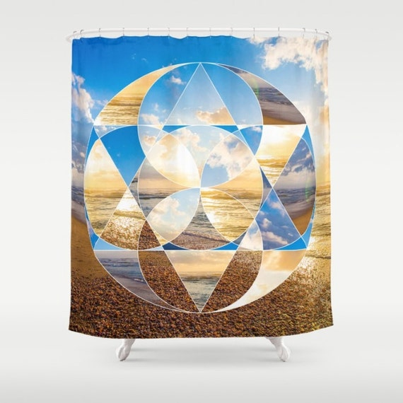 Sacred Geometry Shower Curtain Sunset HDR Photo